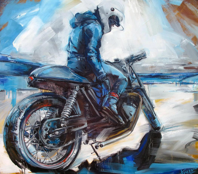 motorcycle badass helmets biker paintings painting motorbike badasshelmetstore bike artist profile drawing cafe artists cool coolest wearing racers cullings julie