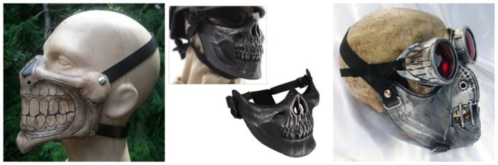 Custom motorcycle helmet face mask