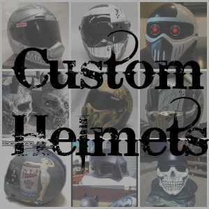 Custom Motorcycle Helmet button