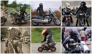 predator helmet collage