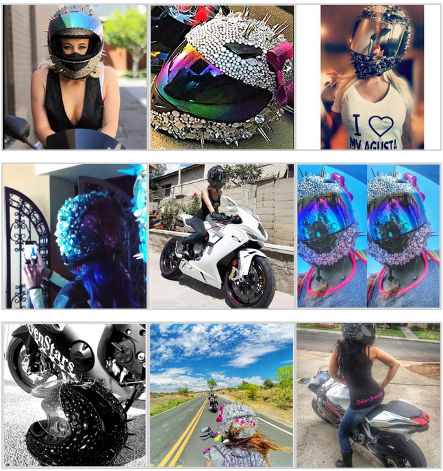 Crystal Helmet Designs collage