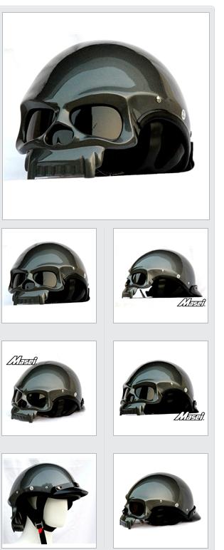 Masei Helmets   Masei 419 DOT Motorcycle Chopper Open Face Helmet GREY