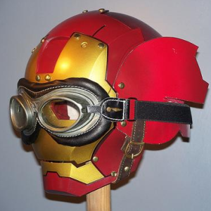 custom motorcycle helmet conversions how to make an iron man motorcycle helmet. Black Bedroom Furniture Sets. Home Design Ideas