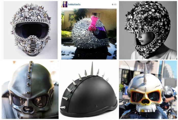 motorcycle helmet spikes collection