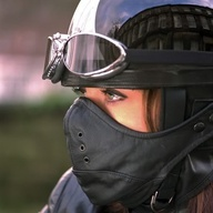 motorcycle women in goggles