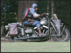 Captain America on Motorcycle