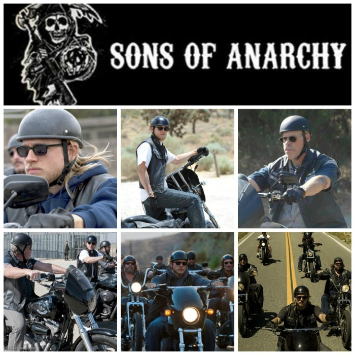 Sons of Anarchy helmet collage