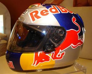 Energy Drink Motorcycle Helmets Monster Vs Rebull