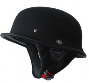 1 German Motorcycle helmet flat black