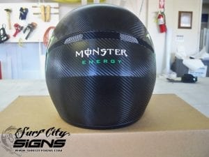 monster carbon fiber helmet