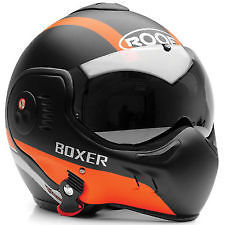 roof boxer helmet with orange chin stripe