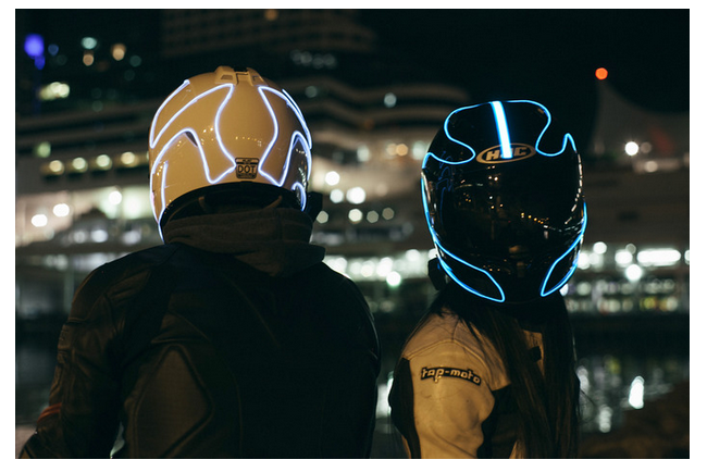 LightMode Electroluminescent Motorcycle helmet lights