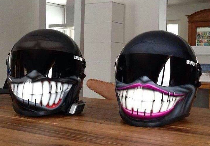 Smiley Face Motorcycle Helmets - Custom motorcycle helmet stickers and decalssimpson motorcycle helmets