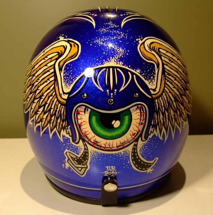 How To Pinstripe A Motorcycle Helmet