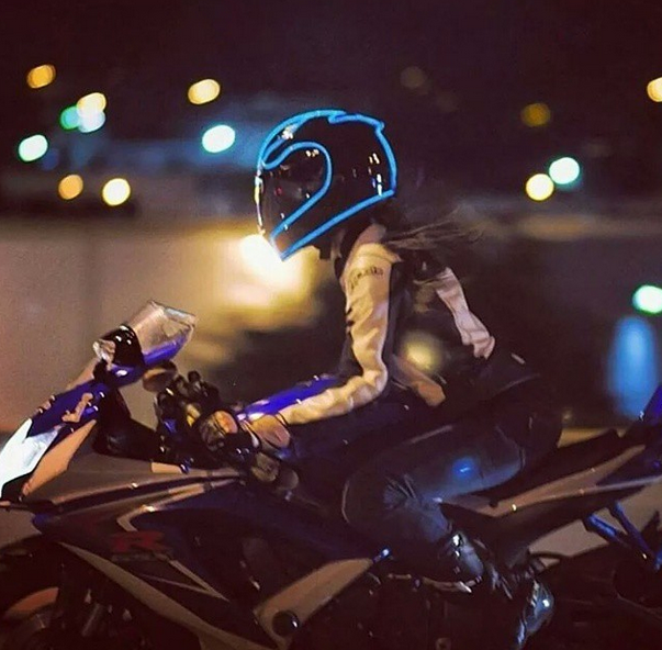 lighted helmet like tron - helmet lights