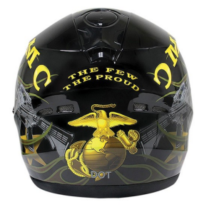 USMC military design motorcycle helmet