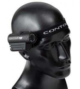 contourhd 1080p helmet camera on headstrap