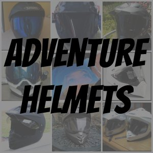 Adventure motorcycle helmet collage button