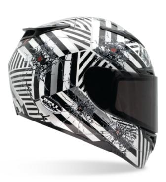BELL RS1 black and white helmet
