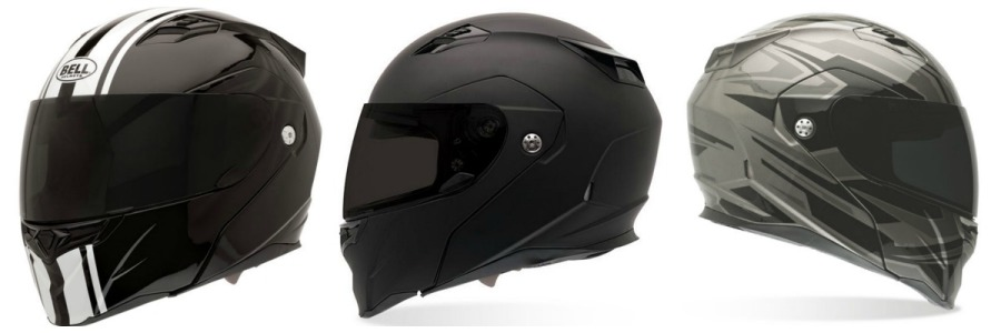 Bell Revolver Motorcycle Helmet collage flat black