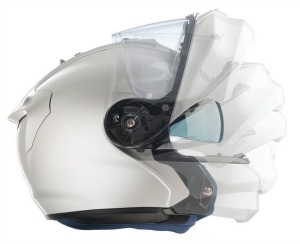 HJC White Modular Flip Up Motorcycle Helmet