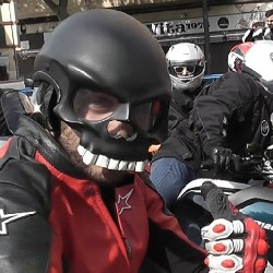 Icon Skull Motorcycle Helmet
