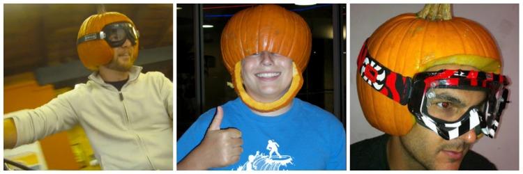 Pumpkin Helmets