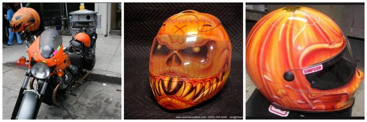 Pumpkin Motorcycle Helmets