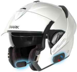 Shark Evoline Series 3 Motorcycle Helmet White with bluetooth