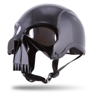 Stryker Darth Knight Motorcyle Helmet gloss black