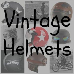 Vintage Motorcycle Helmet button
