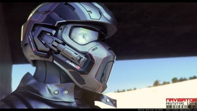 helmet concept that looks similar to the halo helmet
