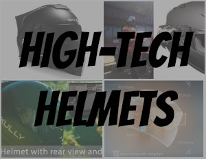 high tech motorcycle helmet button