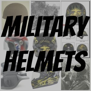 military motorcycle helmet button