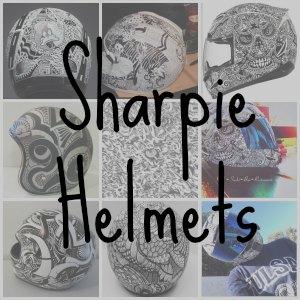 sharpie motorcycle helmet button