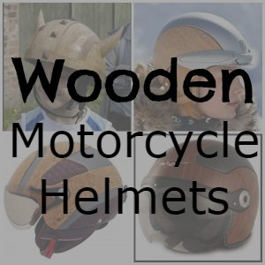 wood motorcycle helmet button