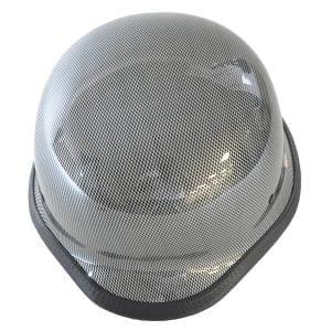 Chrome Mesh German Motorcycle Helmet