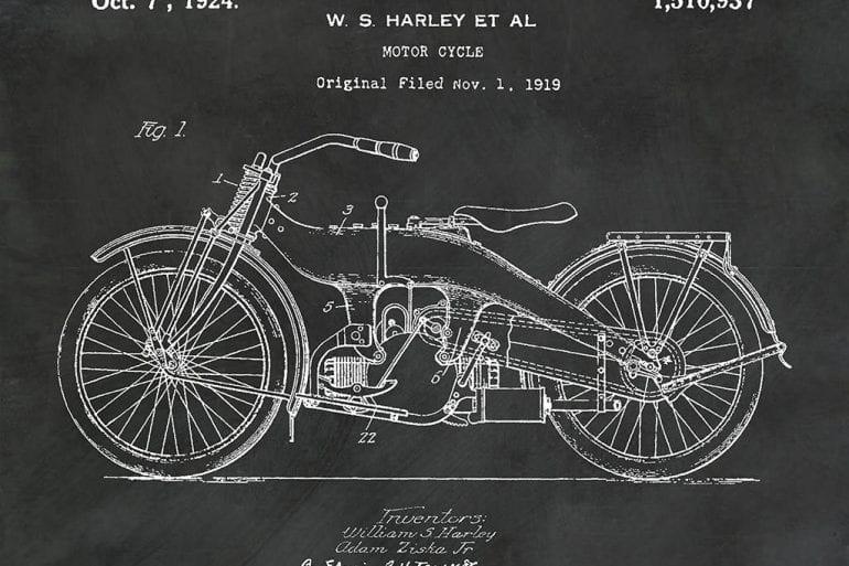 Motorcycle Patent Prints