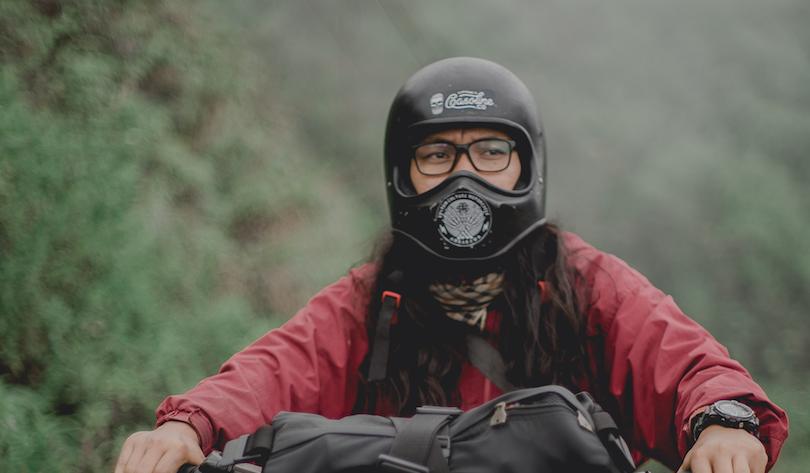 Motorcycle Helmet Storage