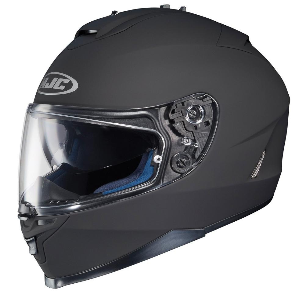 HJC IS 17 Full Face Motorcycle Helmet Matte Black Large Automotive