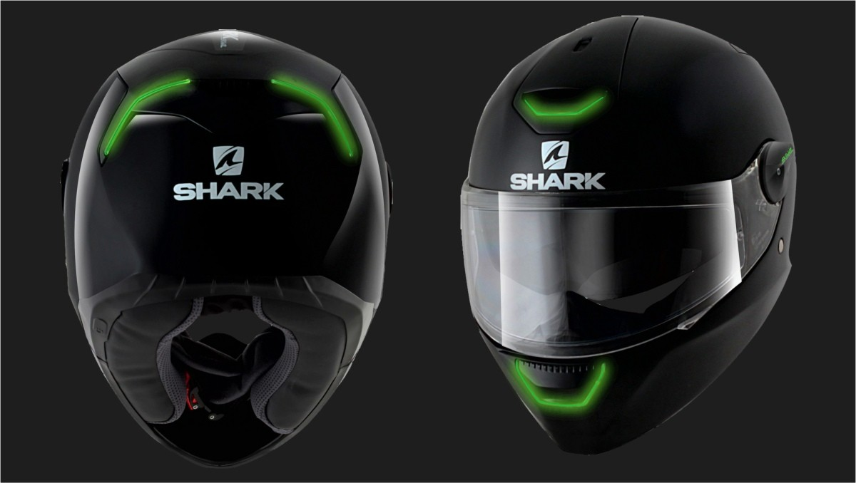 Shark Skwal Motorcycle Helmet With Led Lights First Helmet With