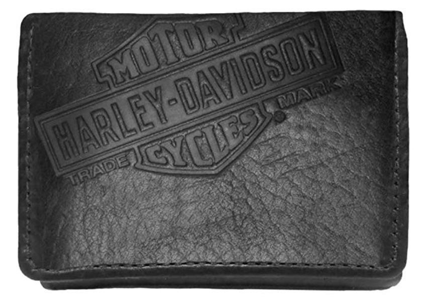 Harley-Davidson American Bison Classic Tri-Fold Wallet