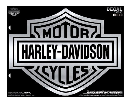 Harley-Davidson Chrome Bar & Shield X-Large Decal