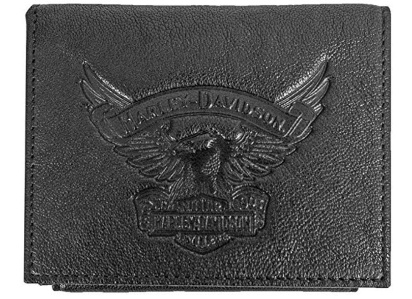 Harley-Davidson Eagle Emboss Leather Bifold Plus One Wallet
