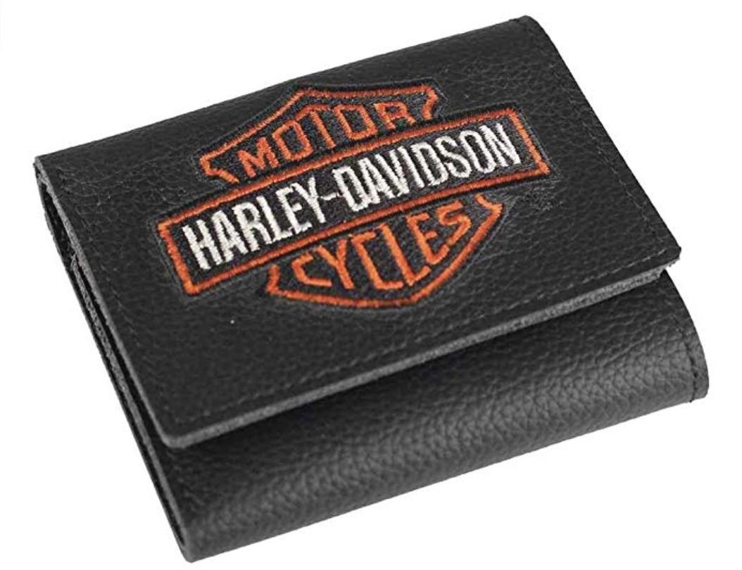 Harley-Davidson Embroidered Bar & Shield Tri-Fold Wallet