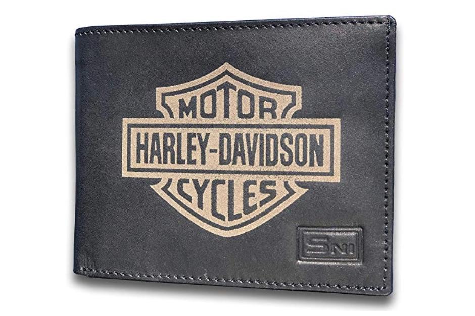 Harley-Davidson Genuine Cowhide Leather Laser Engraved Wallet