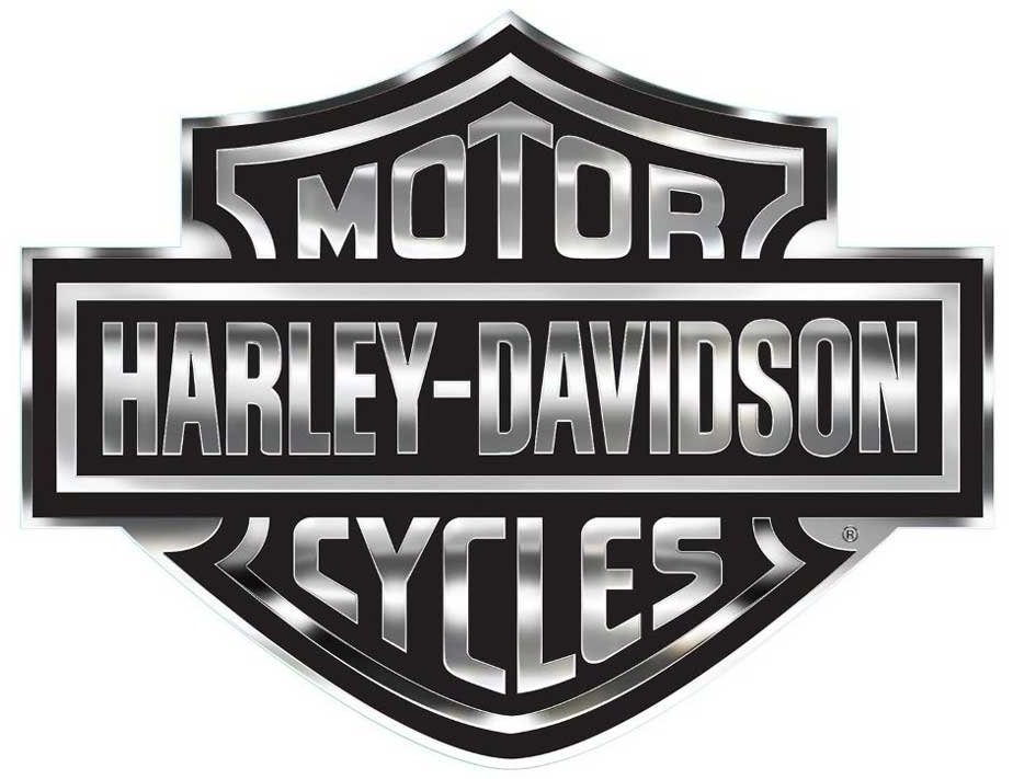 Harley-Davidson Gray and Black Bar & Shield Logo Decal