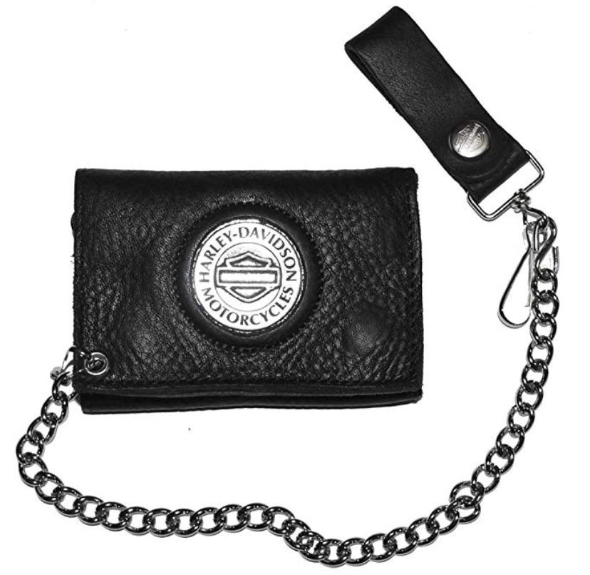 Harley-Davidson Medallion Tri-Fold Chain Wallet