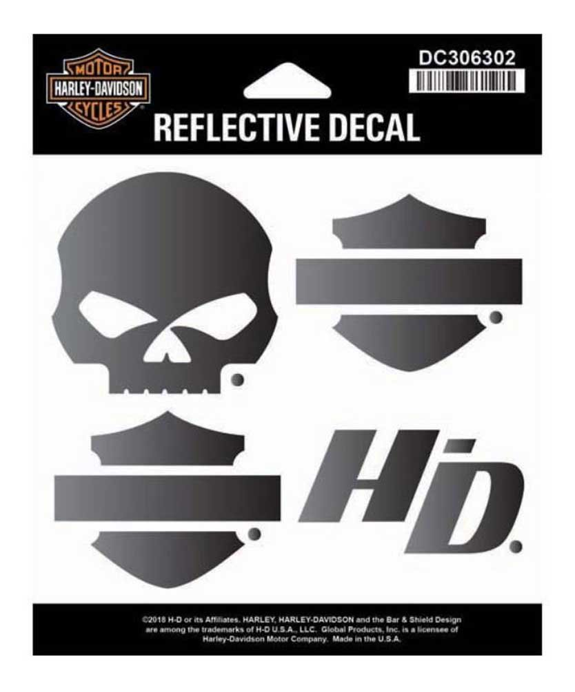 Harley-Davidson Night Rider Reflective Logo Decal Set