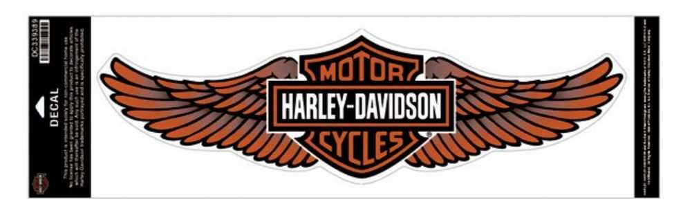 Harley-Davidson Orange Straight Wing Decal